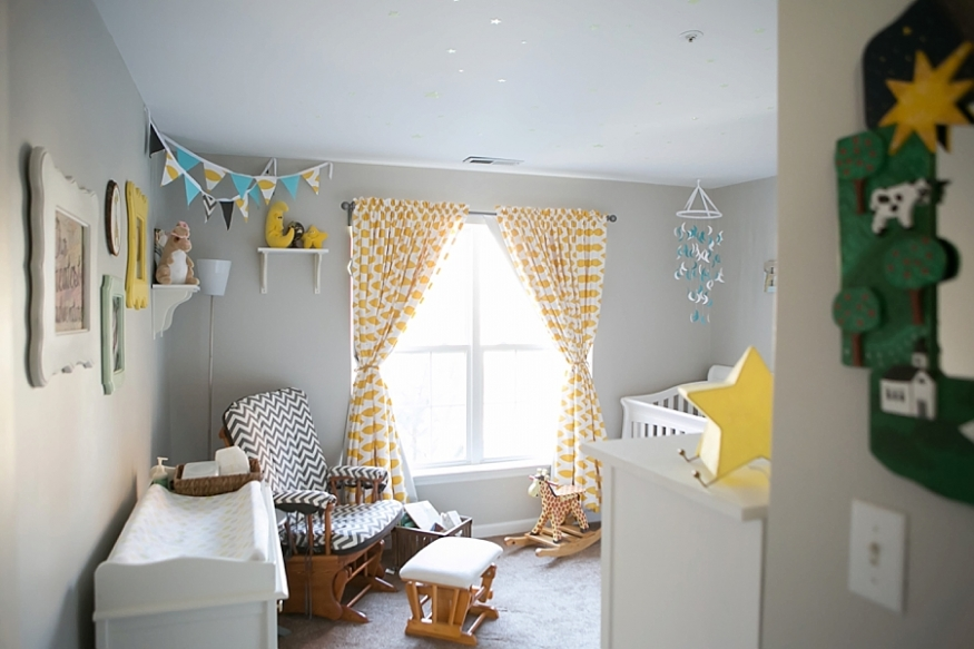 grey and yellow baby nursery